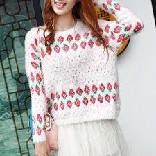 strawberry sweater harajuku strawberry sweater sd00020 kawaii
