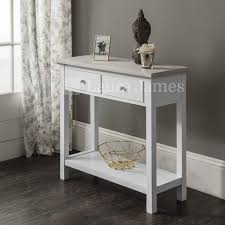 White Foyer Table Furniture Hall Table With Drawers Foyer Table With Drawers White