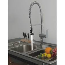 platinum water ridge kitchen faucet wide spread single handle side