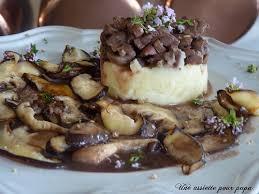 cuisiner rognons de veau parmentier de rognons de veau à la trousseminette et aux shiitakés
