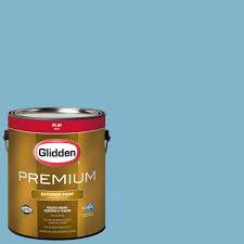 glidden premium 1 gal hdgb46 mayflower blue flat latex exterior