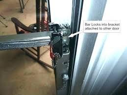 Security Lock For Sliding Patio Doors Sliding Patio Door Locks Bar Sliding Glass Door Lock Also Sliding