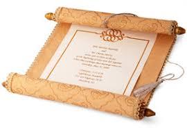 scroll invitation moroccan wedding scroll invitation hansonellis