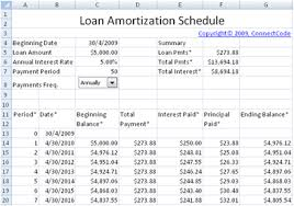 Payment Schedule Excel Template Free Loan Amortization Schedule