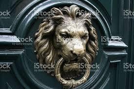 lion door knocker lion door knocker stock photo more pictures of accessibility
