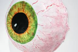 halloween wreath halloween decor large paper mache eyeball