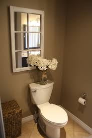 best ideas about toilet room decor pinterest half bath country bathroom cor hydrangeas jar old window mirror more