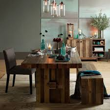 Emmerson Reclaimed Wood Dining Bench West Elm - West elm emmerson industrial expandable dining table