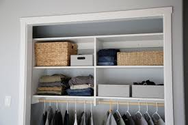 ana white no paint horizontal closet organizer diy projects