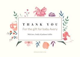 thank you card for baby thank you cards make custom baby thank you cards online