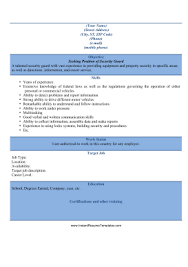 Sample Resume Security Guard by 19 Resume Security Guard Incredible Resume And Cover Letter