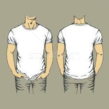 vector white t shirt template vector illustration konstantin li