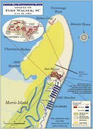 Map Of Beaufort Sc Assault On Fort Wagner Civil War Trust