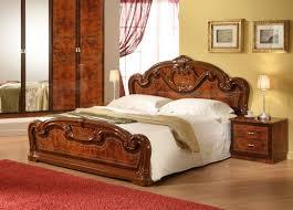 Walnut Bed Frame High Gloss Walnut Italian Bed Frame New Room Style