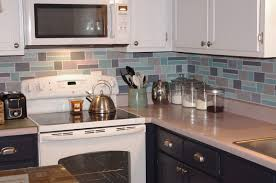 Painting Kitchen Tile Backsplash Kitchen Backsplashes Budget Friendly Painted Brick Backsplash At