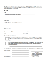 Sample Bill Of Sale Vehicle by Business Bill Of Sale Forms 7 Free Documents In Word Pdf