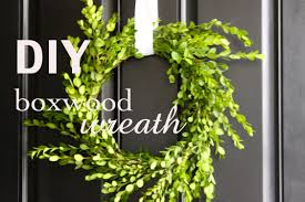 diy boxwood wreath love of home