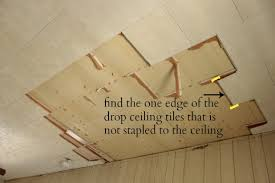 Ceiling Tile Installation How To Remove A Drop Ceiling Drop It Like It S