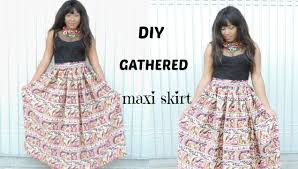 pattern for simple long skirt sewing diy gathered maxi skirt youtube