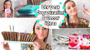 Cheap Desk Organizers by Diy Desk Organization U0026 Decor Ideas Youtube