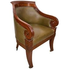 Regency Office Furniture by Regency Carved Mahogany Tub Chair For Sale At 1stdibs