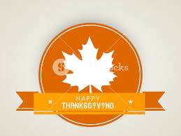 happy thanksgiving day concept with beautiful autumn leaf royalty
