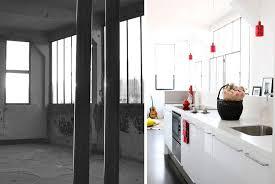cuisine architecte avant aprés rénovation d un loft au design contemporain de 150m2