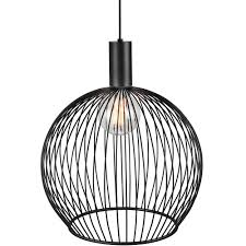 modern black light fixtures modern large wire frame globe pendant in black