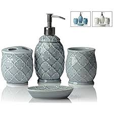 amazon com bathpro 4 piece jewelry bathroom accessories completes