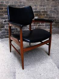 Mid Century Leather Chairs Circa Midcentury U0027mid Century U0027 Walnut Leather Side Chair
