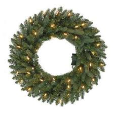 wreath pre lit the home depot