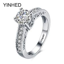 aliexpress buy anniversary 18k white gold filled 4 aliexpress buy yinhed white gold filled ring with 18krgp