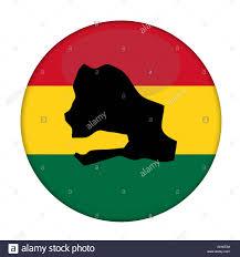 Senegal Map Senegal Map On A Rastafarian Flag Button White Background Stock