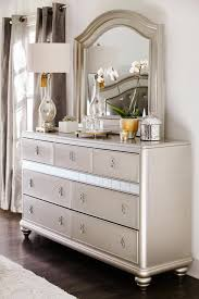 Smoked Mirrored Bedroom Furniture Super Glam Dresser With Mirror From Our Serena Collection Only At