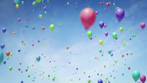 balloons that float lots of balloons floating up into the sky stock footage