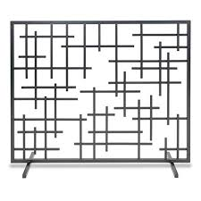pilgrim 39 u0027 u0027 x 31 u0027 u0027 black contemporary summer fireplace screen