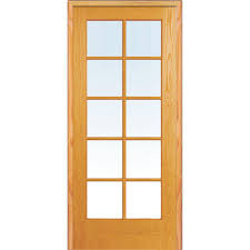Home Depot Glass Interior Doors Mmi Door 32 In X 80 In Left Handed Unfinished Pine Wood Clear