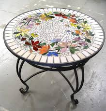 glass table top ideas decorating mosaic round table top designs mosaic tile table top