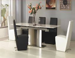 contemporary black leather dining room chairs best dining room