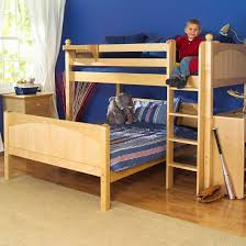 Twin Over Full LShaped Bunk Bed By Maxtrix Kids Natural Wood - L shaped bunk beds twin over full