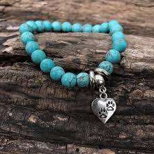 turquoise bracelet images Paw prints on my heart turquoise bracelet dog pawty jpg