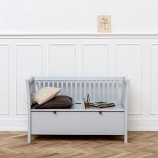 small bench in seaside grey hallway storage cuckooland