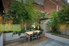 Small Urban Garden - gap gardens small urban garden with seating area image no