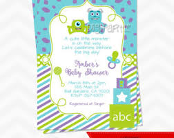 monsters inc baby shower ideas monsters inc baby shower invitations blueklip