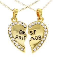 gold best friends necklace images Enjoyable design best friend heart necklaces gold necklace in jpg