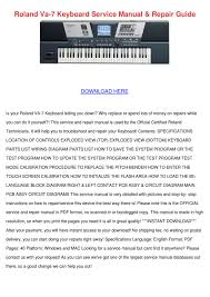roland va 7 keyboard service manual repair gu by agatha grassmyer