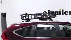 honda crv cargo box review of the thule moab roof top cargo basket on a 2013 honda cr