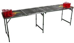 Custom Beer Pong Tables by Beer Pong Table Flaming Playing Field 8 U0027 L