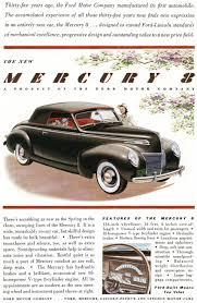 car ads in magazines directory index mercury 1939