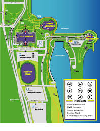 Grant Park Map Chicago by Soldier Field Parking Guide Rates Maps Tips Spg